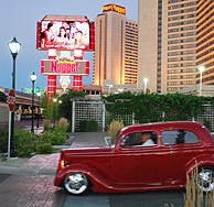 Red Classic Car at the Sparks Nugget photo