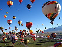 Hot Air Balloons over Albuquerque photo