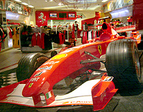 Ferrari Store at Beverly Center Race Car photo