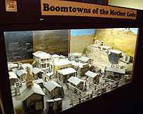 Gold Rush Mining Boom Town Model photo